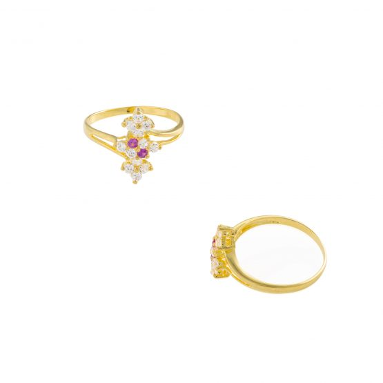 22ct Yellow Gold & CZ Stones Ladies Ring 27