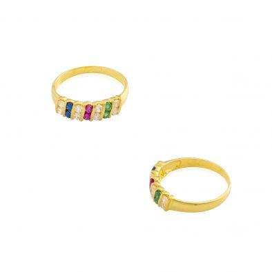 22ct Yellow Gold & CZ Stones Ladies Ring 04