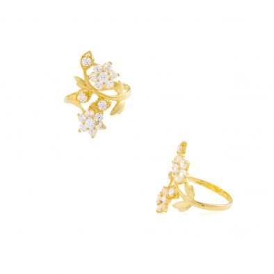 22ct Yellow Gold & CZ Stones Ladies Ring 06