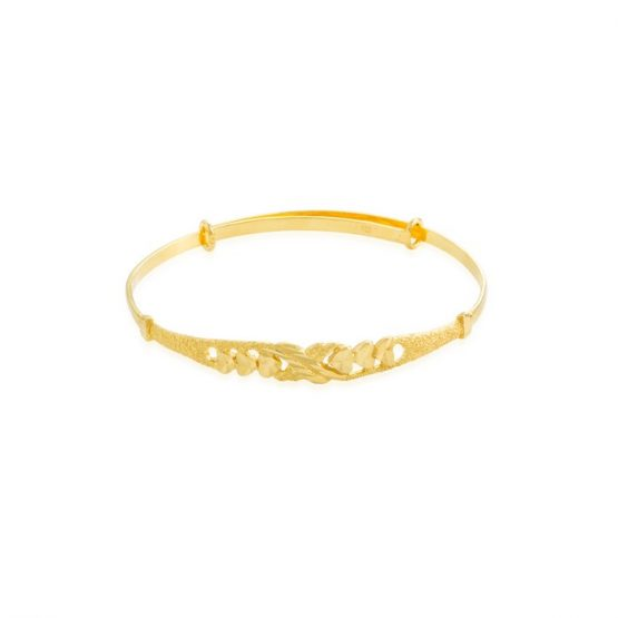 22ct Yellow Gold Baby Bangle (Adjustable) 02