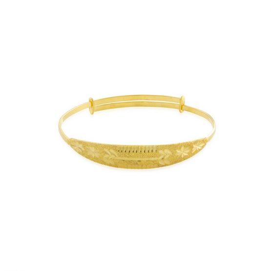 22ct Yellow Gold Baby Bangle (Adjustable) 01