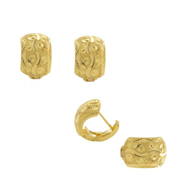 22ct Yellow Gold Earrings – Gypsy Clip Design 02