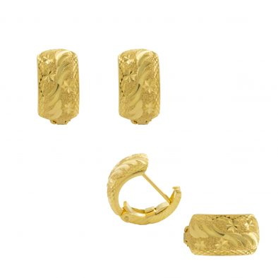 22ct Yellow Gold Earrings – Gypsy Clip Design 04