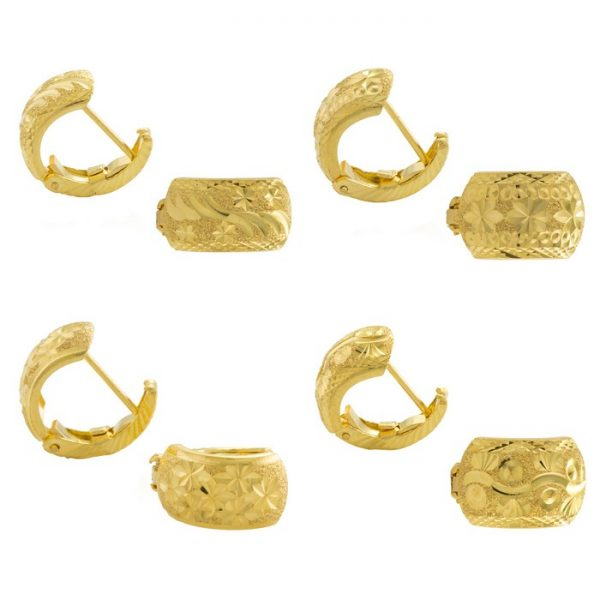 22ct Yellow Gold Earrings - Gypsy Clip Design - Bundle 01