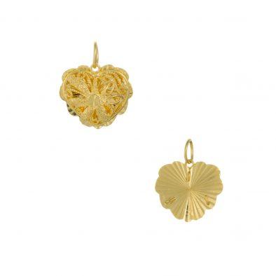 22ct Yellow Gold Ladies Pendant – Fancy Design / Heart Shape 08