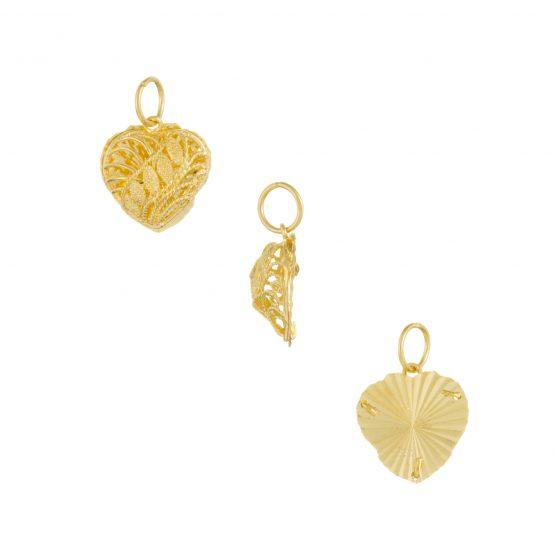 22ct Yellow Gold Ladies Pendant – Fancy Design / Heart Shape 07