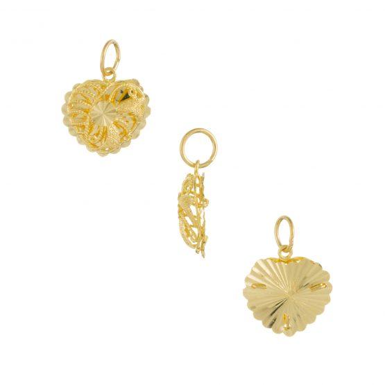22ct Yellow Gold Ladies Pendant – Fancy Design / Heart Shape 05