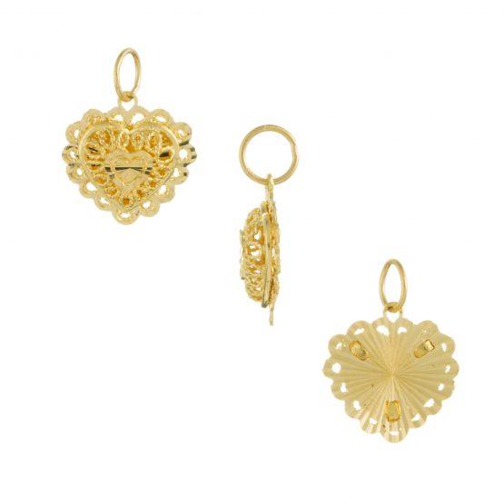 22ct Yellow Gold Ladies Pendant – Fancy Design / Heart Shape 06