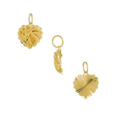 22ct Yellow Gold Ladies Pendant – Fancy Design / Heart Shape 09