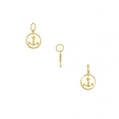 22ct Yellow Gold Ladies Pendant – Fancy Design 02