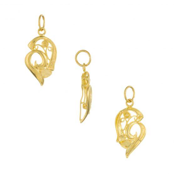 22ct Yellow Gold Ladies Pendant – Fancy Design 03