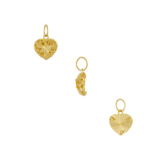 22ct Yellow Gold Ladies Pendant – Fancy Design / Heart Shape 10