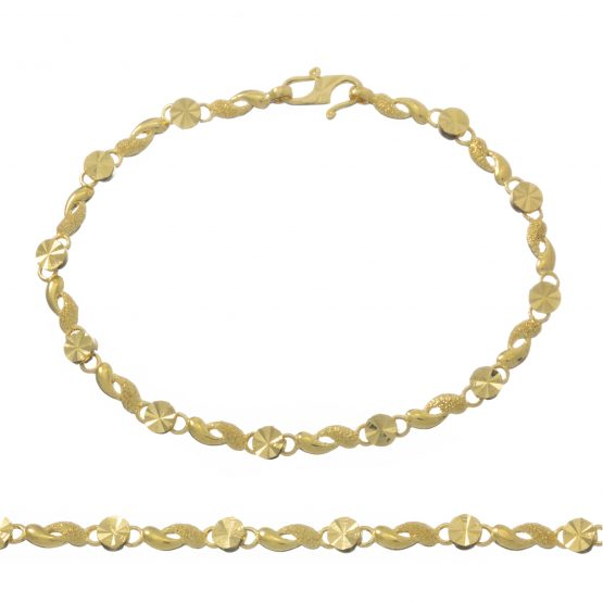 Ladies Bracelet 22ct Yellow Gold 14