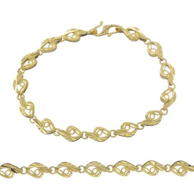 Ladies Bracelet 22ct Yellow Gold 16