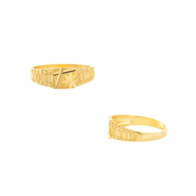22ct Yellow Gold Plain Men's Ring 02