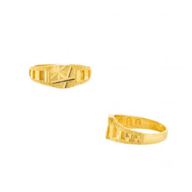22ct Yellow Gold Plain Men's Ring 03