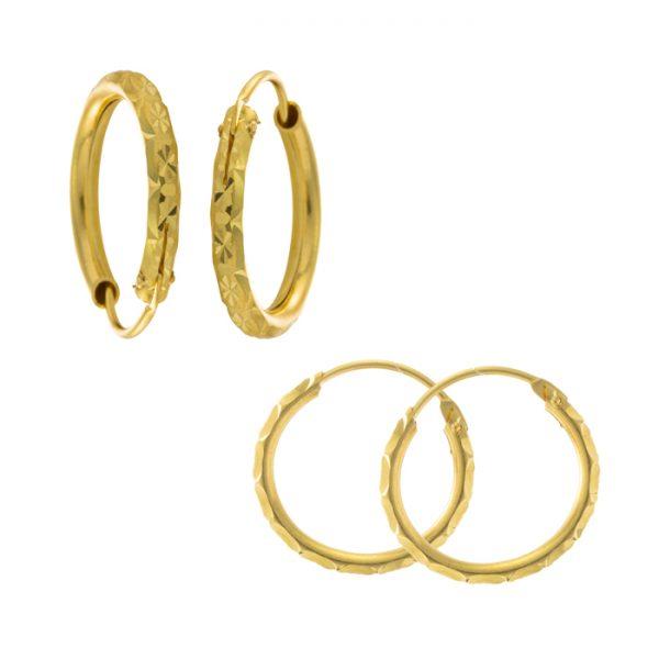 22ct Yellow Gold Earrings – Bali Design 02