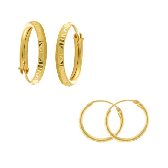 22ct Yellow Gold Earrings – Bali Design 03
