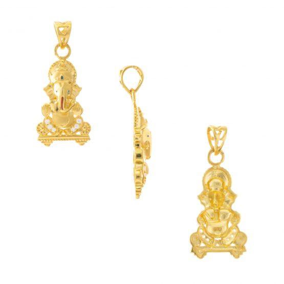 22ct Yellow Gold Pendant – Hindu Design 05