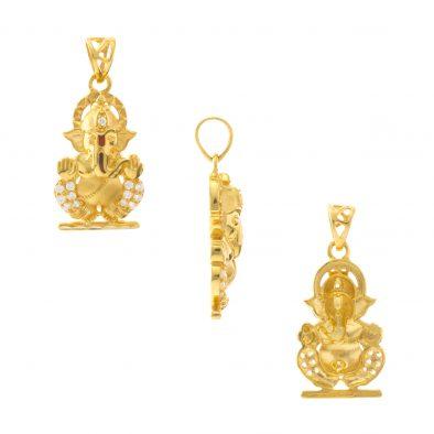 22ct Yellow Gold Pendant – Hindu Design 07