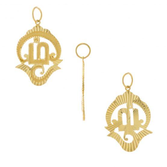 22ct Yellow Gold Pendant – Tamil OM Design 01