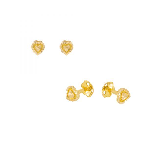 22ct Yellow Gold Stud Earrings – Plain 08