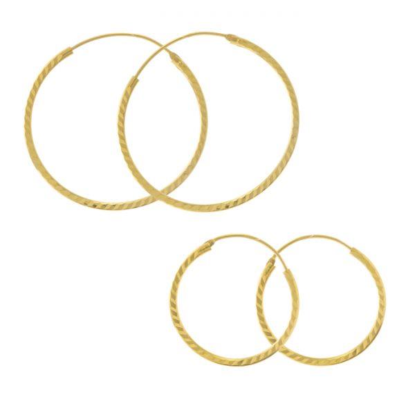 22ct Yellow Gold Earrings – Bali Design 01