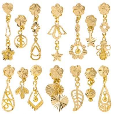 22ct Yellow Gold Hanging Earrings Bundle 04