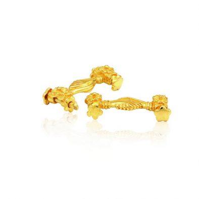 22ct Yellow Gold Thali Mugappu - Handshake Design 01