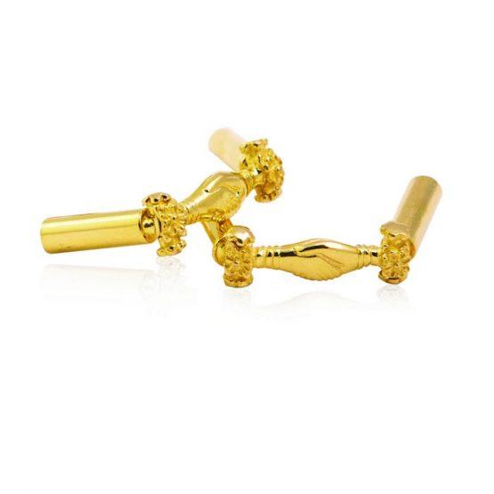 22ct Yellow Gold Thali Mugappu – Handshake Design 02
