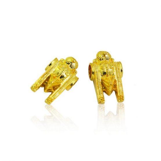22ct Yellow Gold Thali Mugappu - Kombu Design 01