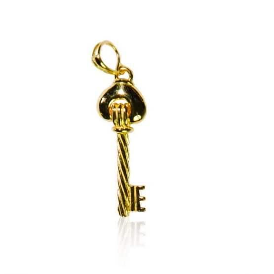 22ct Yellow Gold Pendant – Key Shape 02
