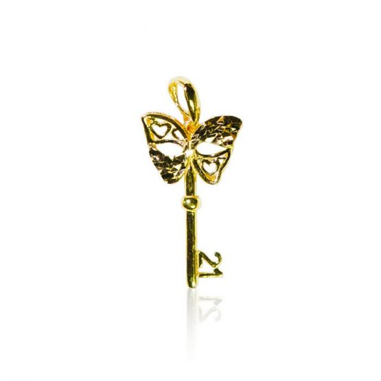 22ct Yellow Gold Pendant – 21st Birthday Key Shape 05