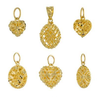 22ct Yellow Gold Ladies Pendants – Fancy Design Bundle 05