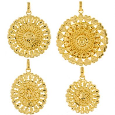 22ct Yellow Gold Ladies Pendants – Fancy Design Bundle 04