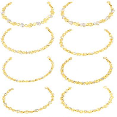 Ladies Bracelets 22ct Yellow Gold & Rhodium Bundle 02
