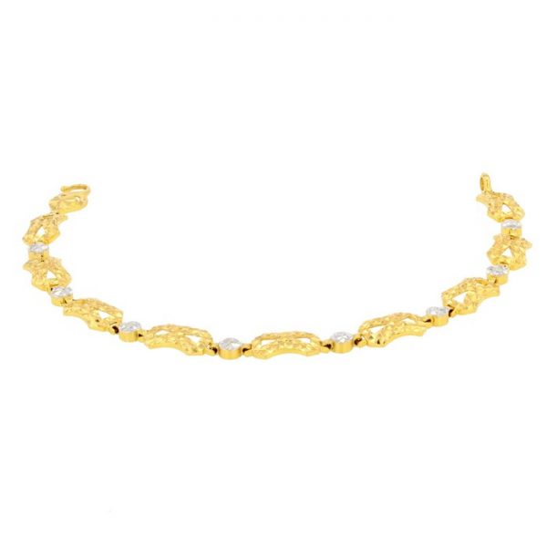 Ladies Bracelet 22ct Yellow Gold & Rhodium 11