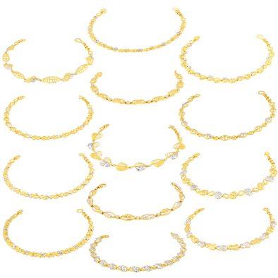 Ladies Bracelets 22ct Yellow Gold & Rhodium Bundle 01