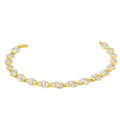 Ladies Bracelet 22ct Yellow Gold & Rhodium 13