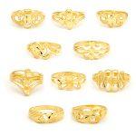 22ct Yellow Gold Ladies Rings - Mixed Design Bundle 01 1