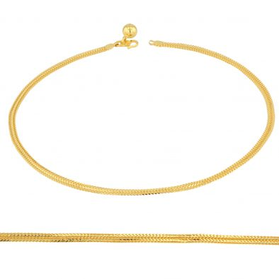 22ct Yellow Gold Ladies Anklet 03