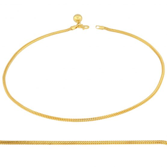 22ct Yellow Gold Ladies Anklet 02