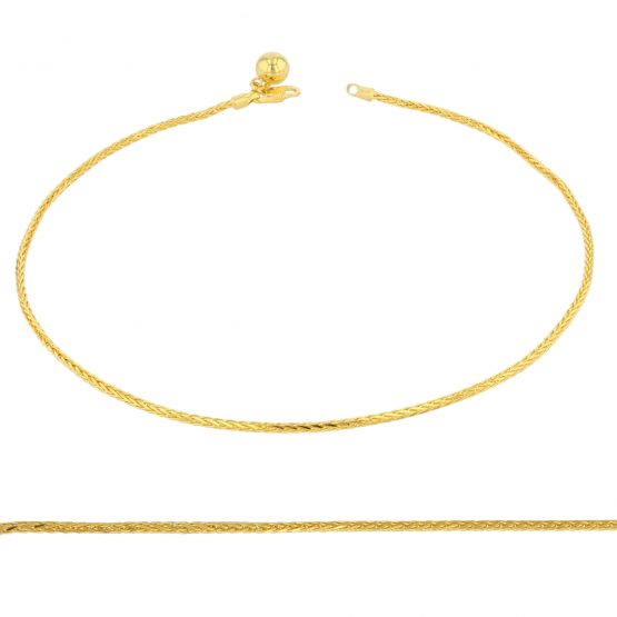 22ct Yellow Gold Ladies Anklet 01