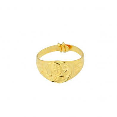 22ct Yellow Gold Baby Ring - Adjustable 01