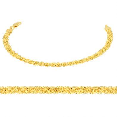 Ladies Bracelet - Braided Design 22ct Yellow Gold 09