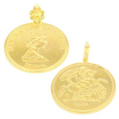 22ct Yellow Gold Thali Mugappu – Coin Design (Rani) 03