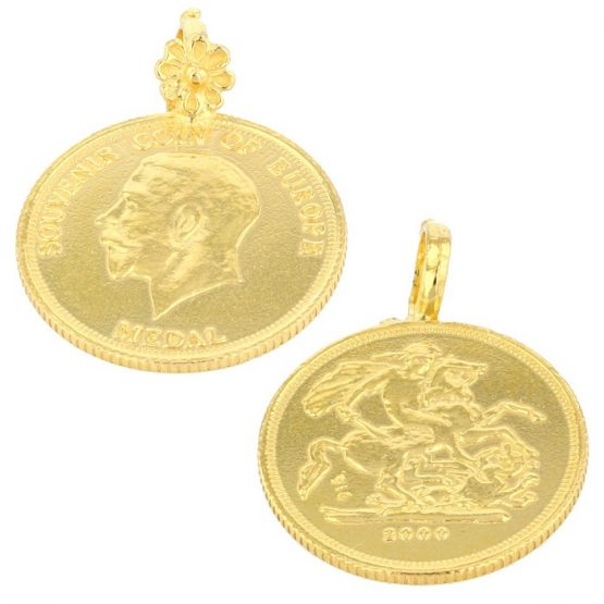 22ct Yellow Gold Thali Mugappu – Coin Design (Raja) 02