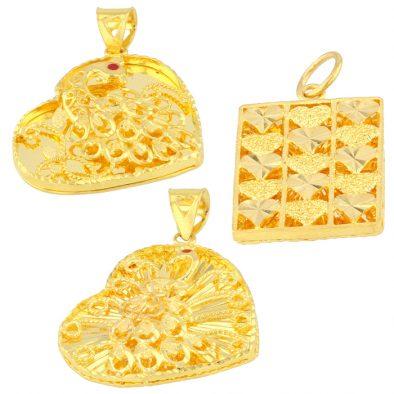 22ct Yellow Gold Ladies Pendants – Fancy Design Bundle 02