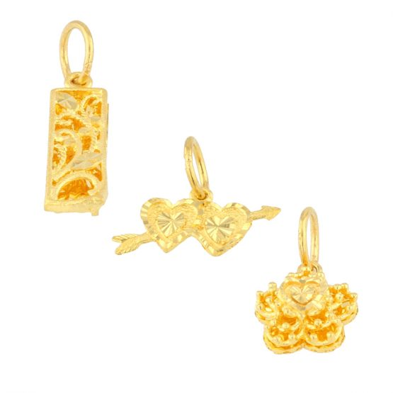 22ct Yellow Gold Ladies Pendants – Fancy Design Bundle 03