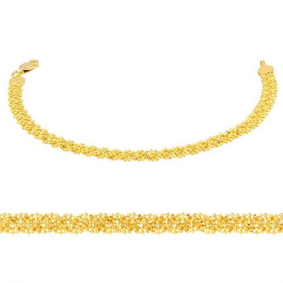 Ladies Bracelet - Anthrax Design 22ct Yellow Gold 08